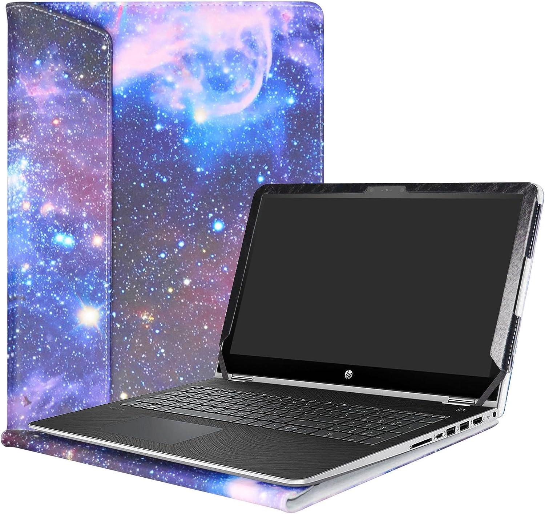 """Alapmk Protective Case Cover for 15.6"""" HP Pavilion x360 15 15-brXXX (Such as 15-BR077NR)/ 15-bkXXX (Such as 15-bk163dx) Laptop(Warning:Nit fit Pavilion x360 15 15-crXXX/Pavilion 15 Series),Galaxy"""