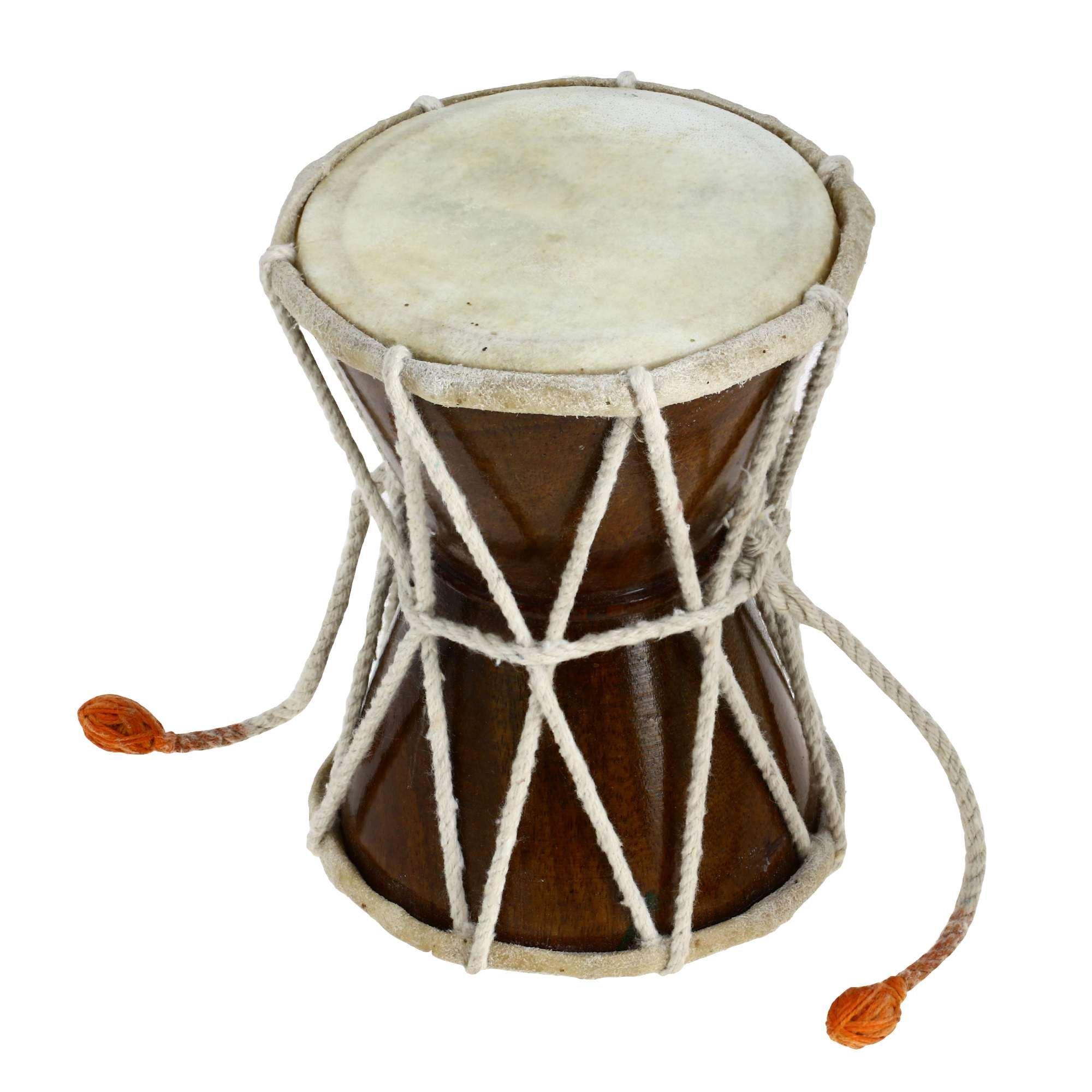 Damaru Indian Folk Percussion Musical Instrument 5 Inches