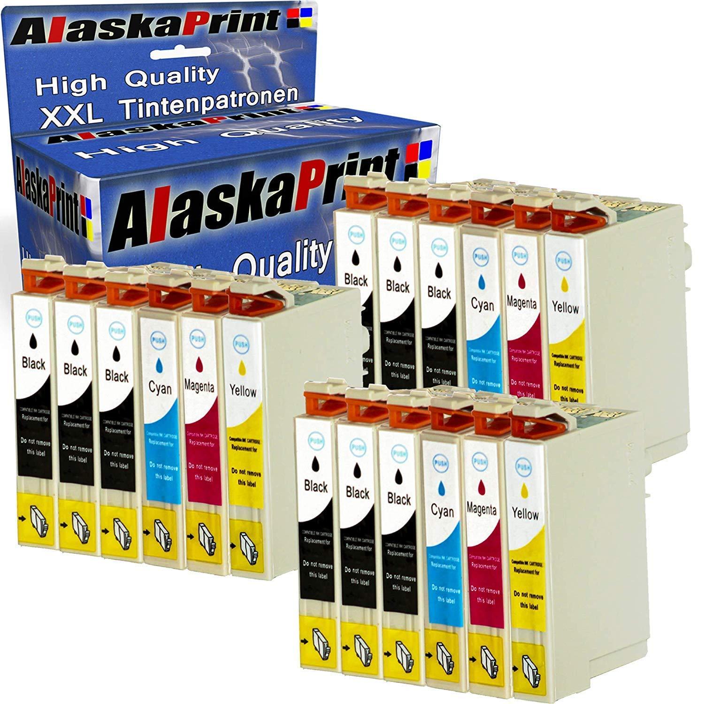 Alaskaprint 16XL Cartuchos de Tinta Compatible para Epson 16 ...