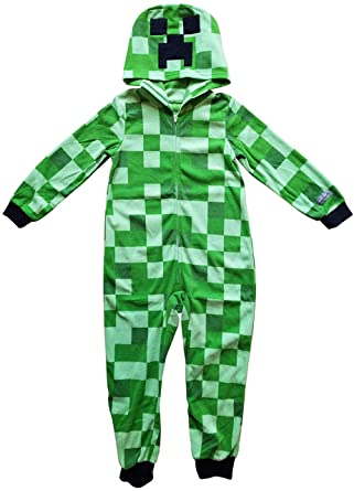 761d9376e Amazon.com  Minecraft Creeper Boys Union Suit Costume Pajamas  Clothing