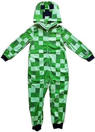 9a8bf349 Amazon.com: Minecraft Creeper Boys Union Suit Costume Pajamas: Clothing