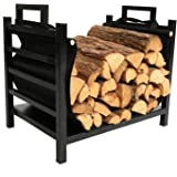 1.Go 18 Inches Firewood Log Rack with Canvas Carrier, Firewood Log Storage Holder for Fireplace