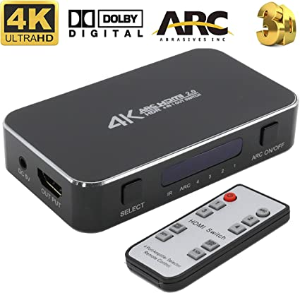 4X1 Automatic HDMI Switch 1080P auto 4 Made in the USA