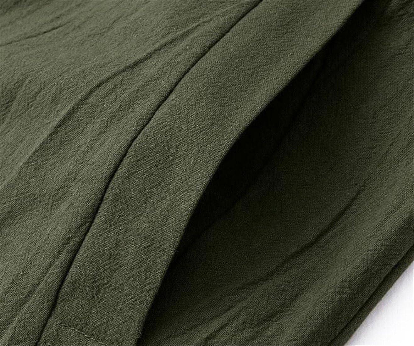 XXBlosom Women Relaxed-Fit Palazzo Pants Linen Jumpsuits Suspender Overalls