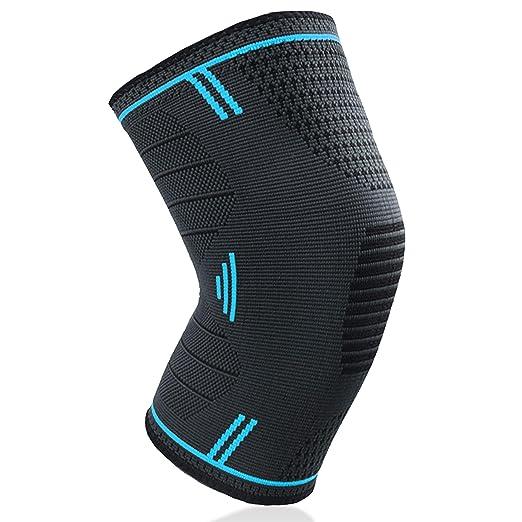 【タイムセール】BoarCroc 膝サポーター 痛み スポーツ 登山 保温 関節 靭帯 筋肉保護 通気性 伸縮性 怪我防止 左右兼用 男女兼用 サイズ選択 1枚入り