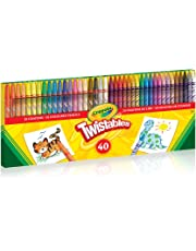 Crayola 40 Count Twistables Crayons, Gift for Boys and Girls, Kids, Ages 3,4, 5, 6 and Up, Holiday Toys, Stocking , Arts and Crafts, Coloured Pencil Kit,  Gifting
