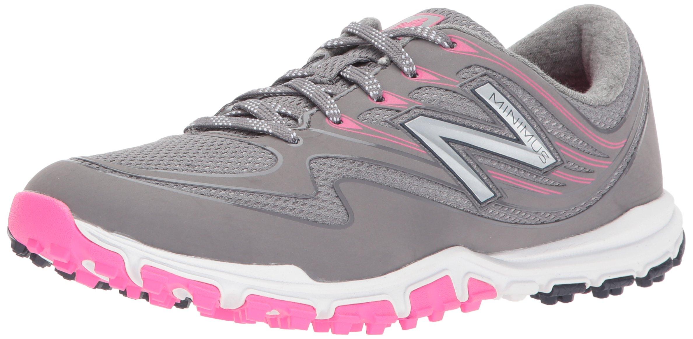New Balance Women's Minimus Sport Golf Shoe, Pink/Grey, 7.5 B B US