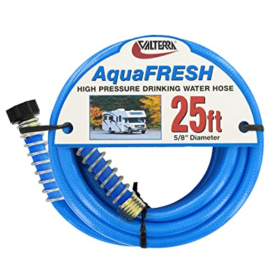 "Valterra AquaFresh High Pressure Drinking Water Hose, Water Hose Hookup for RV - 5/8"" x 50', Blue: Automotive"