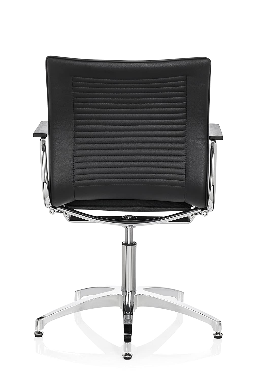 Hjh Hjh Hjh OFFICE 660620 Besucherstuhl ASTONA V Stoff Schwarz Konferenzstuhl mit Armlehnen, ohne Rollen 3ef0e1