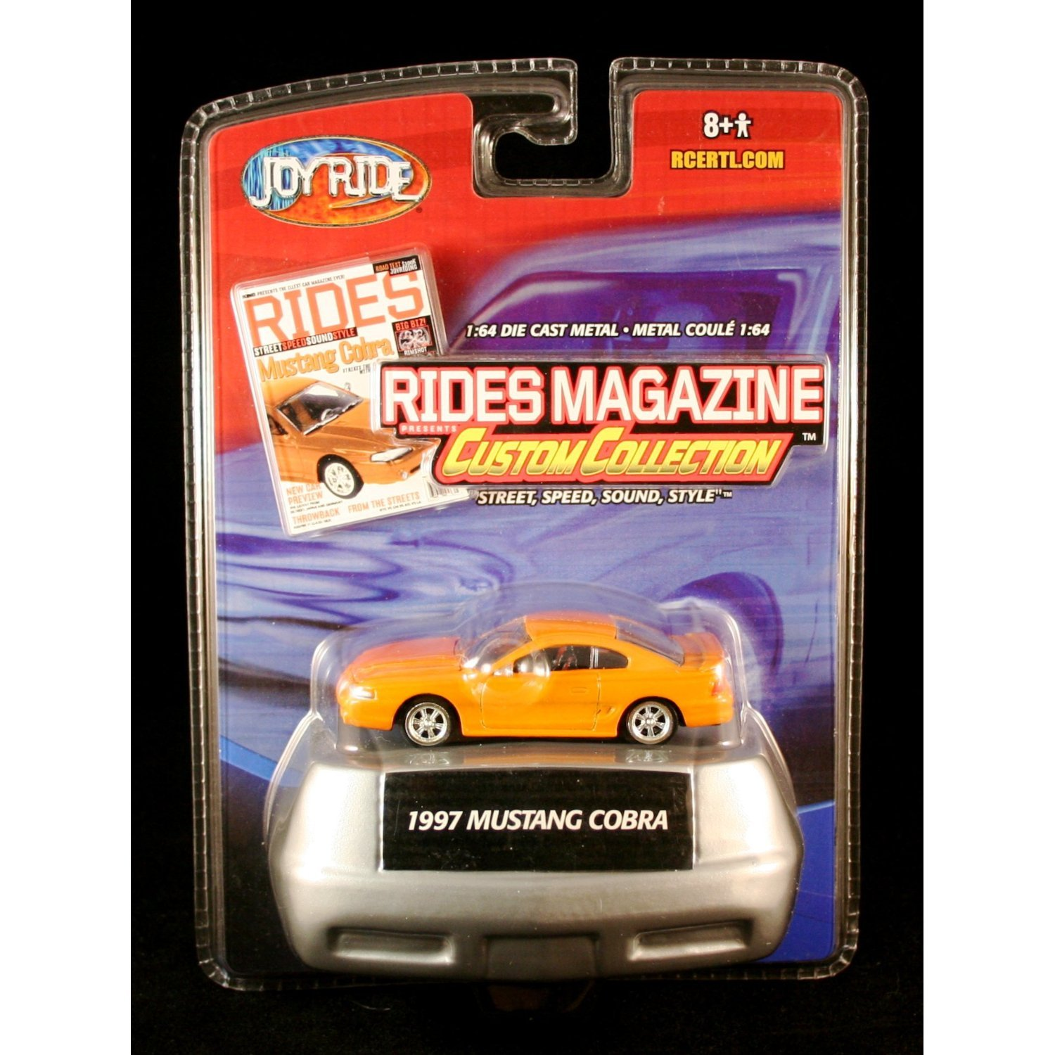 1997 MUSTANG COBRA Joy Ride RIDES MAGAZINE CUSTOM COLLECTION 1:64 Scale Die Cast Vehicle