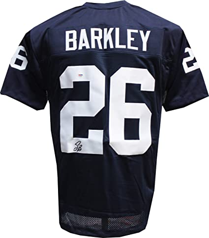 online store 4cbac f0bd2 Authentic Saquon Barkley Autographed Penn State Blue ...