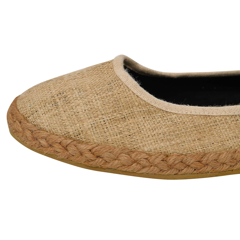 39c1f933b31 virblatt Bailarinas Mujer con la Correa del Tobillo Alpargatas Planas con  patrón - Flanieren 39: Amazon.es: Zapatos y complementos