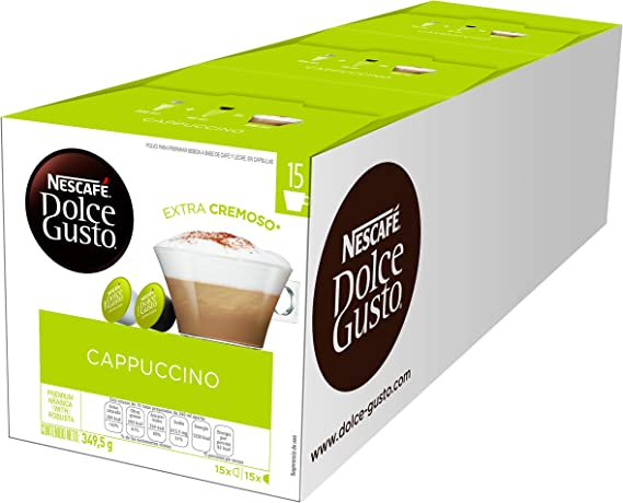 Nescafé Dolce Gusto Cappuccino, Café Gourmand - 90 cápsulas ...