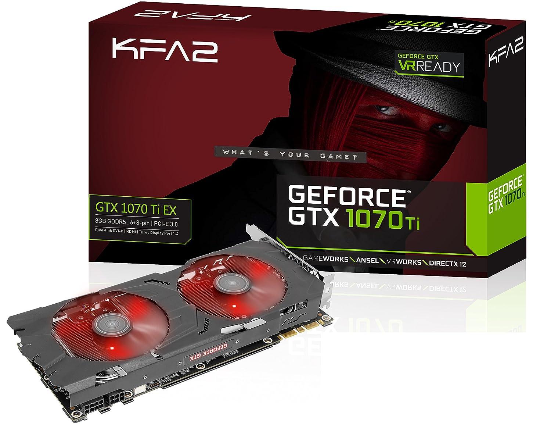 KFA2 70ISH6DHM9XK - Tarjeta gráfica (GeForce GTX 1070 Ti, 8 ...