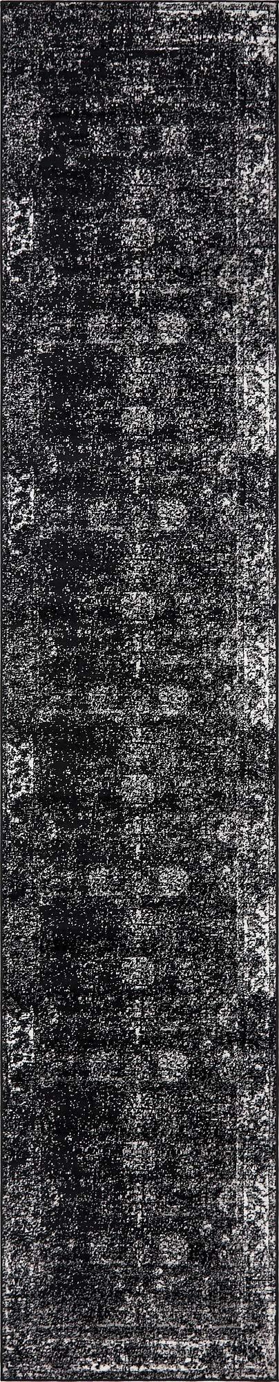 Unique Loom 3141461 Area Rug, 3' x 16' Runner, Black