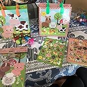Amazon.com: Barnyard - Bolsas de regalo de animales de ...