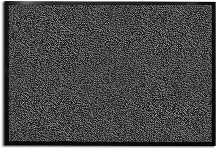 Casa Pura® - Felpudo color gris antracita y negro (muy absorbente, lavable, varios tamaños)