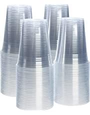 Plastic Cups Crystal Clear PET [100 Pack]