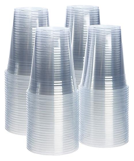 581b07982cef [100 Pack - 16 oz.] Crystal Clear PET Plastic Cups