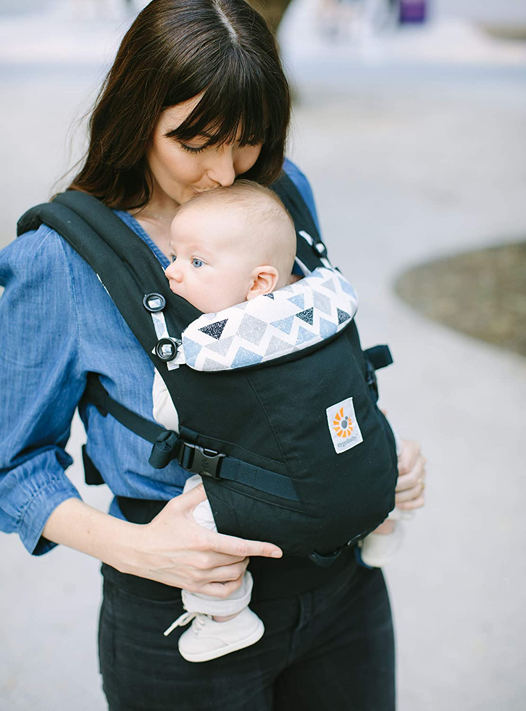 Ergobaby Babytrage f/ür Neugeborene bis 20kg Batik Indigo Adapt Babytragetasche Kindertrage