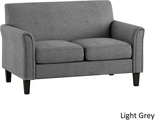 Amazon.com: Modern Style Loveseat Sofa - Upholstered Fabric ...