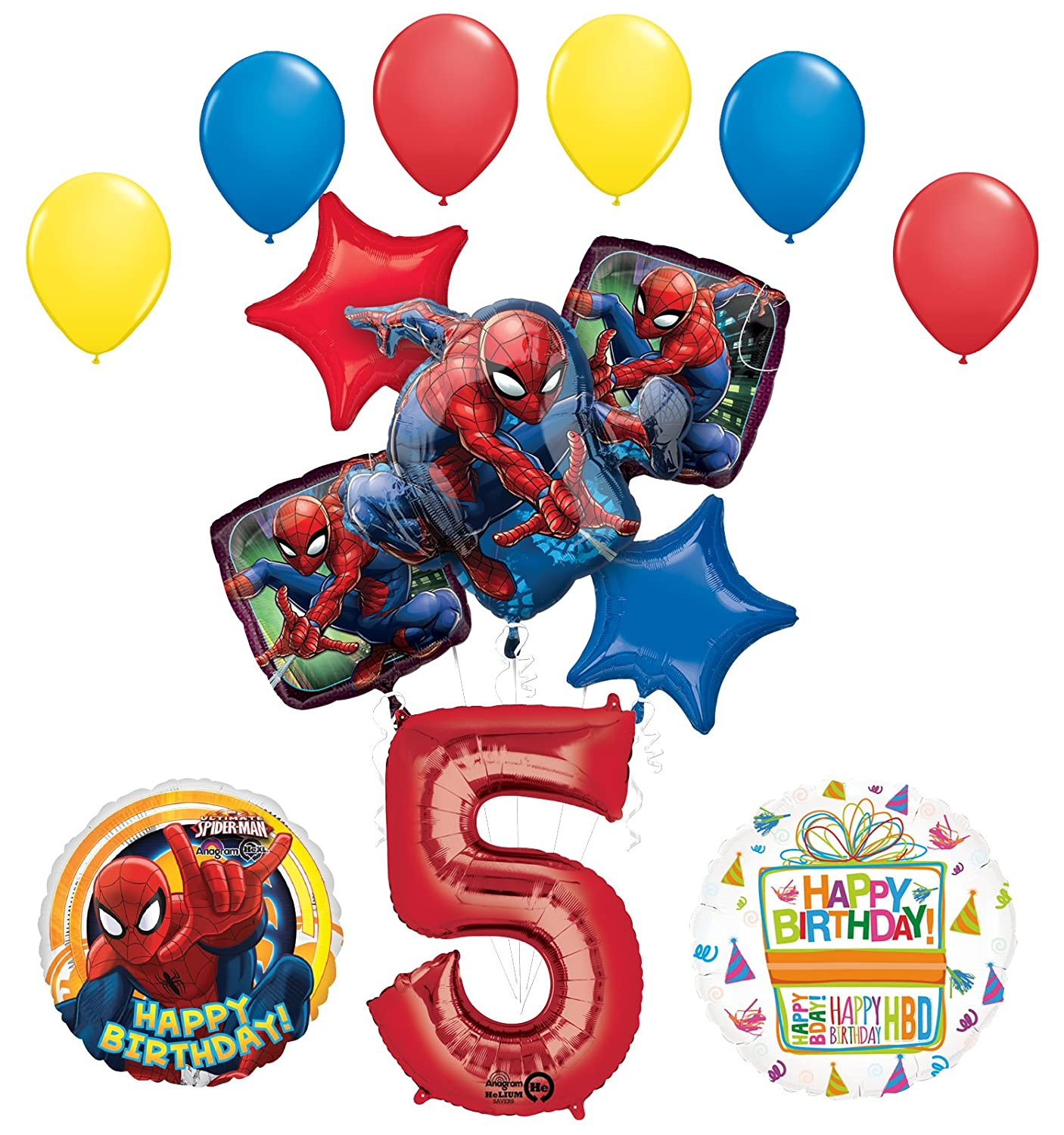 Amazon Mayflower Products The Ultimate Spider Man 5th Birthday Party Supplies And Balloon Decorations Toys Games