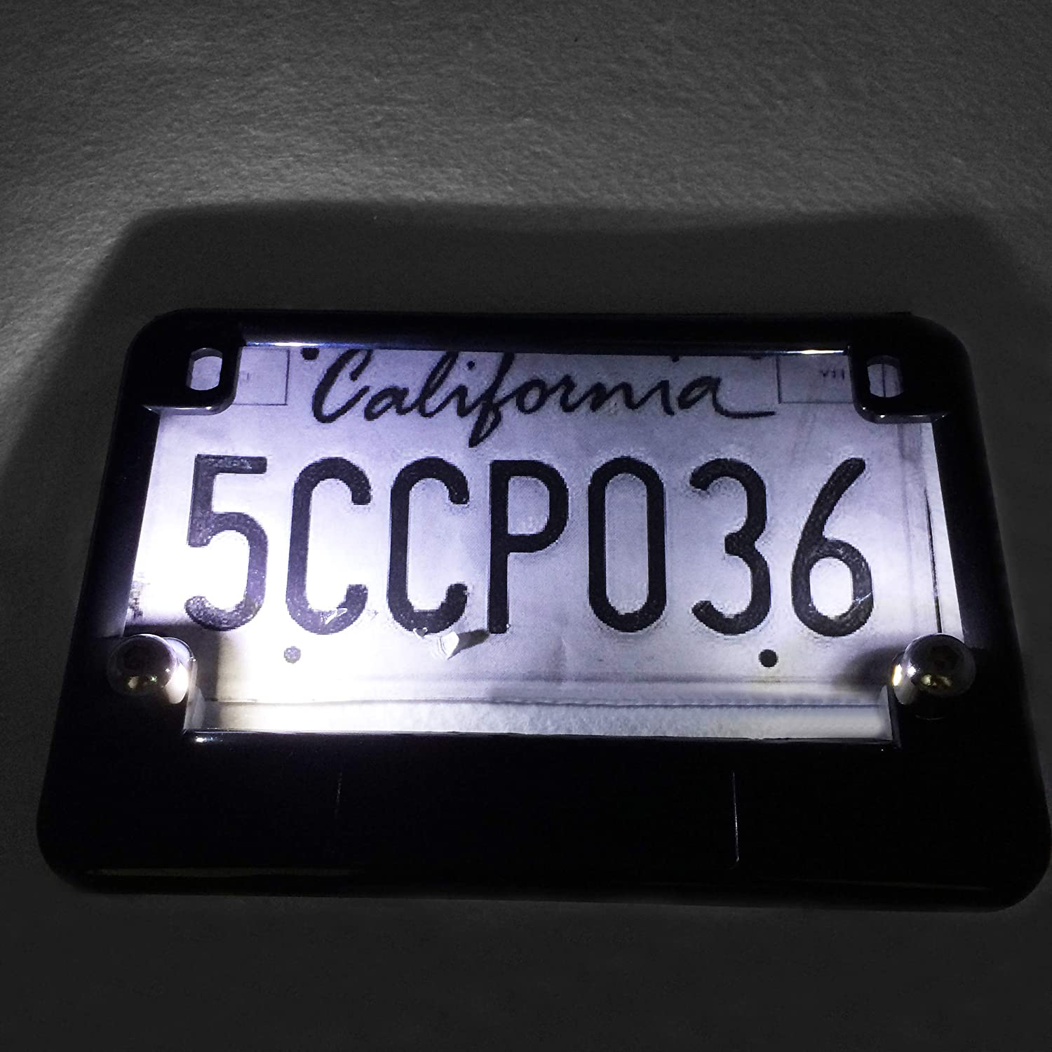 Black Universal LED License Tag Plate Bolt Lights