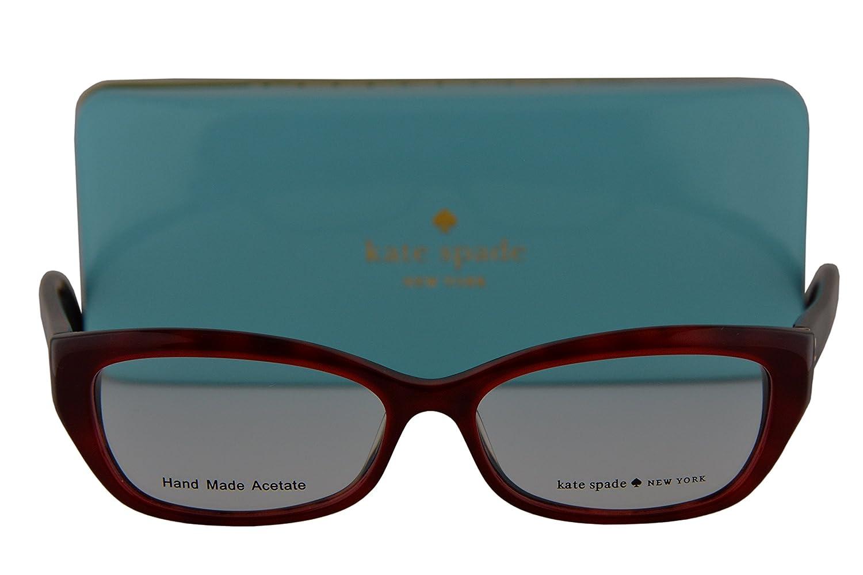 d580e469bb6 Kate Spade Eyeglasses Catalina 51-14-135 Red Havana 0FN1  Amazon.ca   Clothing   Accessories