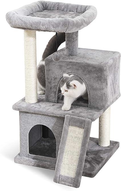Amazon.com: Pawz Road Cat Tree Torre de lujo para gatos con ...