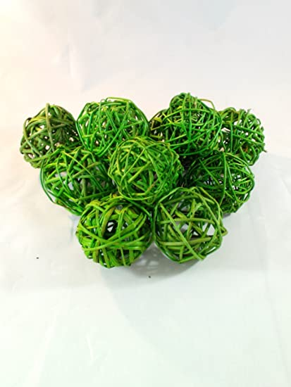 Amazon Decorative Spheres Lime Green Rattan Ball Vase Filler Adorable Decorative Balls For Bowls Green