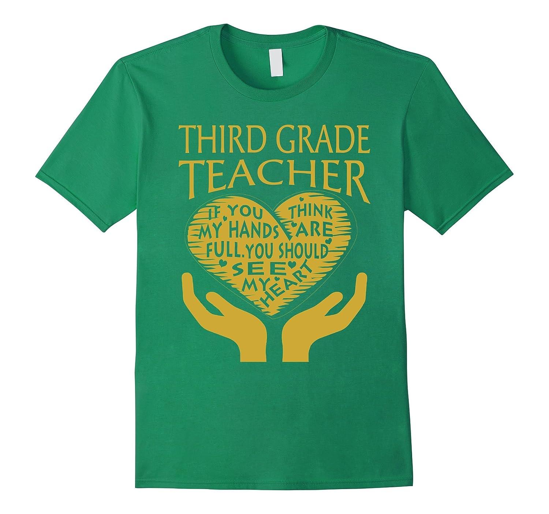 Third grade teacher full hand t shirts funny job shirts tj for Full hand t shirts for womens