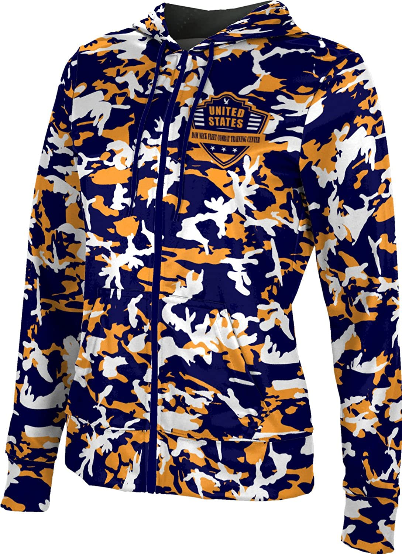 Women's Dam Neck Fleet Combat Training Center Military Camo Fullzip Hoodie
