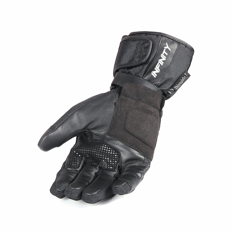 Infinity Leder Motorrad Handschuhe Schutz st/ützende Wasserdicht Sommer und Winter Fahrrad Sport.