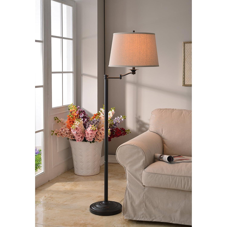 Amazon white floor lamps lamps shades tools - Kenroy Home 32215cbz Riverside Swing Arm Floor Lamp Copper Bronze Finish Amazon Com