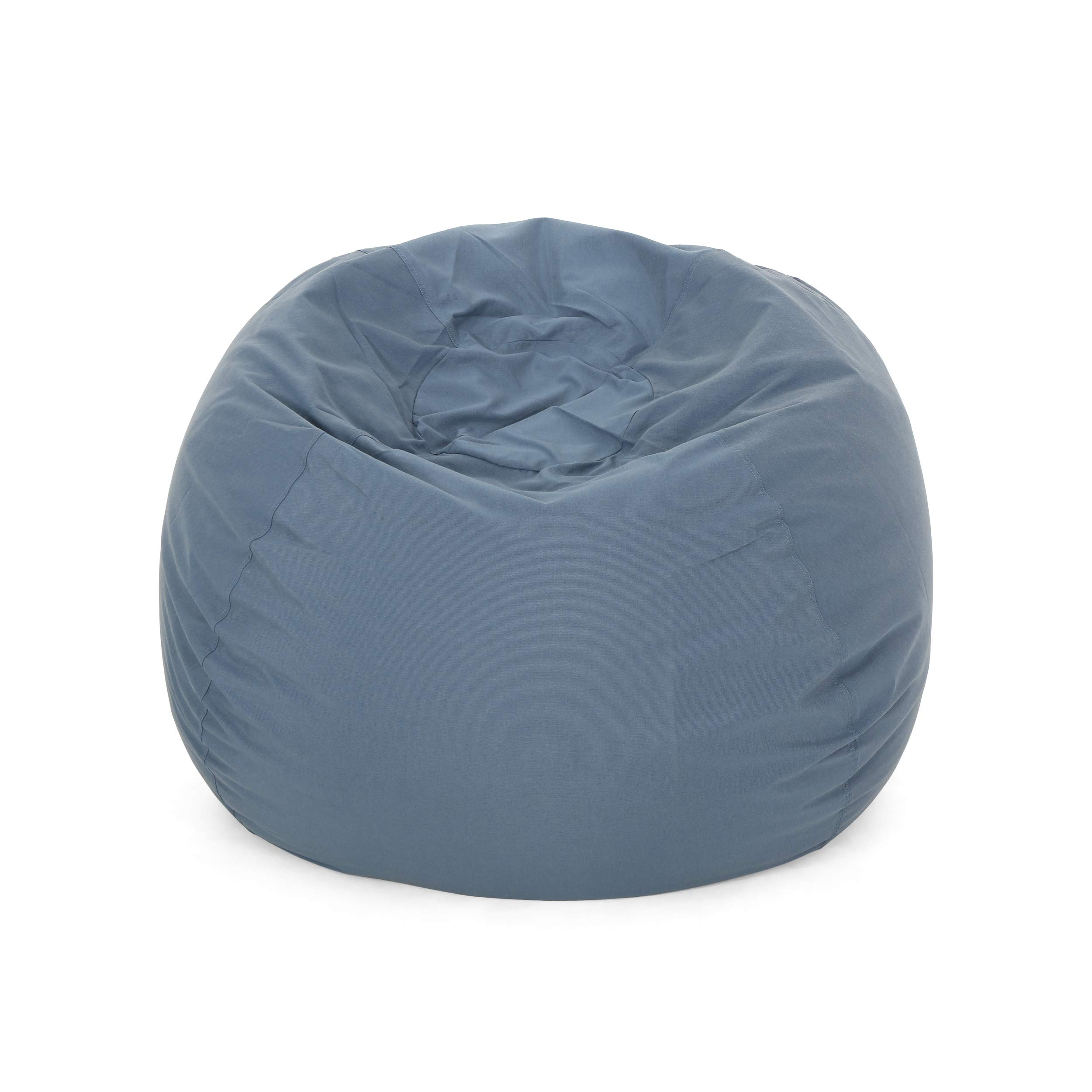 Christopher Knight Home Poppy Indoor Water Resistant 4.5' Bean Bag, Blue by Christopher Knight Home