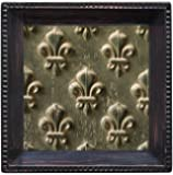 Thirstystone Ambiance Coaster Set, Embossed Fleur de Lis, Multicolored