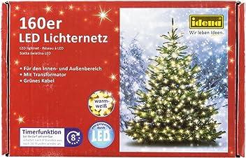 Idena LED Lichternetz mit Timerfunktion, 160er warm weiß, für außen, 8325069