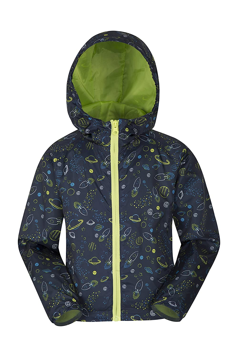 Mountain Warehouse Gizmo Kids Shell Jacket - Spring & Summer Coat Two Tone Blue 3-4 years 023909205005