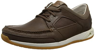 e283c2a286011 Clarks Men?s Ormand Sail Lace-Up Boat Shoes Brown (Dark Brown Lea ...