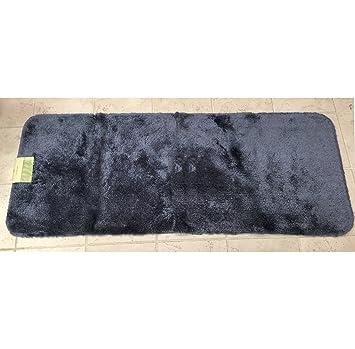 Royale Slate Blue Plush Nylon 24u0026quot; X 60u0026quot; Runner Bath Rug