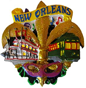 New Orleans Fleur De Lis Refrigerator Magnet with Free Drawstring Pouch/bag