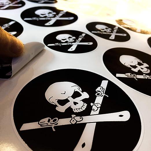 17 Ski Aufkleber Set Skull Skizubehör Allmoutain Punisher Totenschädel Powder Decal Helm Skibrille Auto