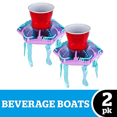 BigMouth Inc. Beverage Boats, Cupholder Floats for Pool Parties (Jellyfish): Toys & Games