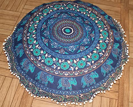 Amazon.com: Bohemio indio decorativo almohada de piso Boho ...