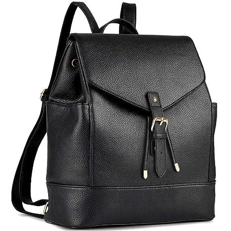 Femmes filles sac à dos Voyage sac à bandoulière PU sac à dos en cuir BM