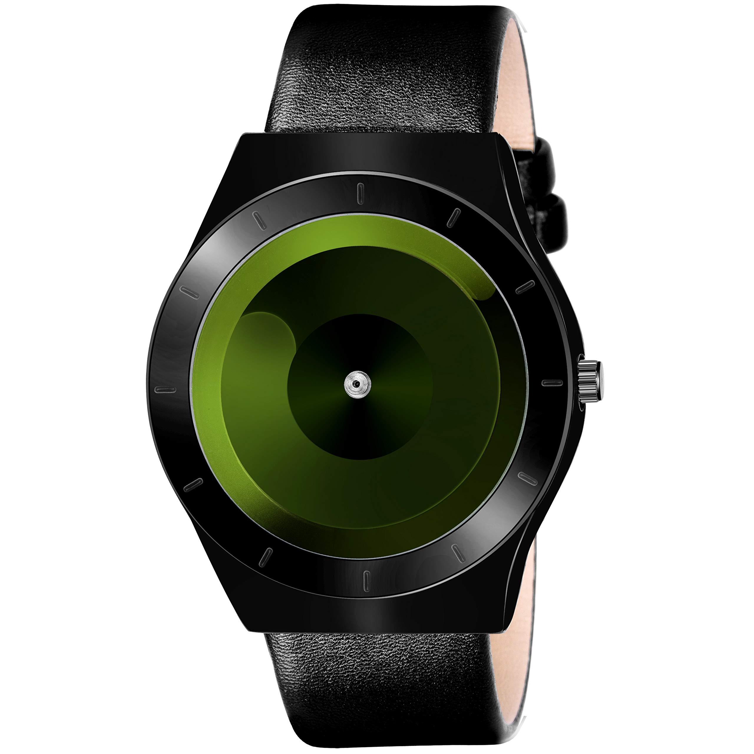 Lamkei LAM-1262 Analogue Unique Green Dial Black Leather Strap Watch for Men (B07Y8MHCZC) Amazon Price History, Amazon Price Tracker