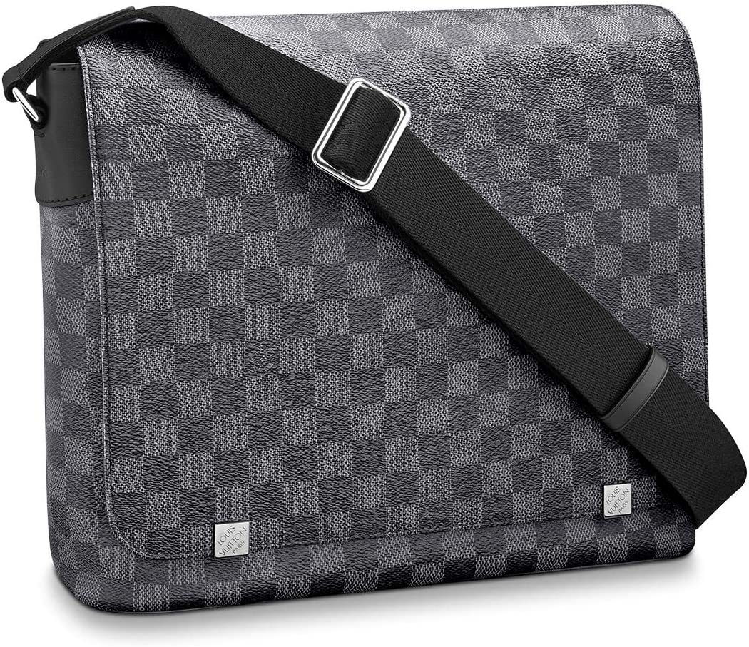 Louis Vuitton District Messenger Bag (Damier Graphite, MM)