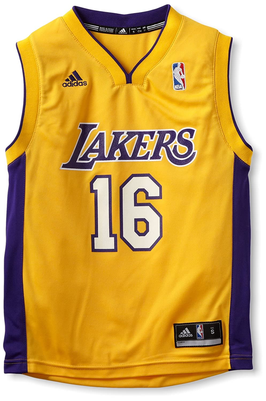 ef263c5b7 Amazon.com   NBA Los Angeles Lakers Pau Gasol Youth 8-20 Replica Home Jersey