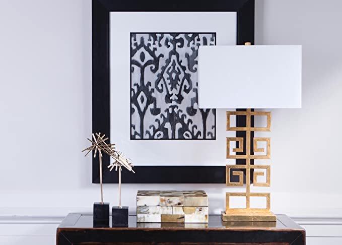 Amazon.com: Ethan Allen clave Griega lámpara de mesa: Home ...