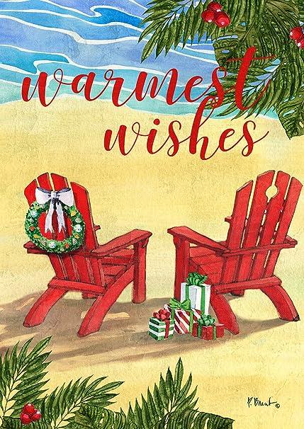 Tropical Christmas.Toland Home Garden 1112263 Tropical Christmas Wishes Garden Flag 12 5 X 18 Inch 12 5 X 18 Multi